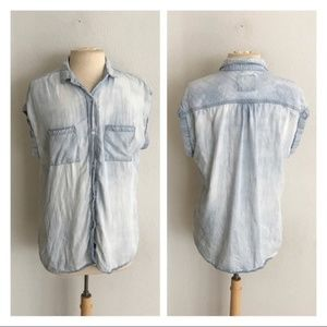 Rails chambray sleeveless button down